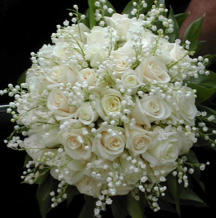 Lily of the valley bouquet diane pinterest for Bouquet roses blanches