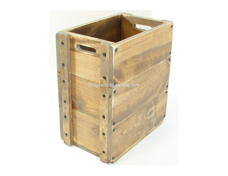 Wooden Crate Furniture Tall Wood Box Sofa Or Chair Side Storage