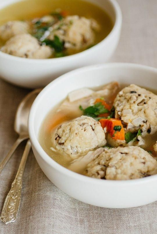Passover #Recipe: Chicken Soup with Shallot-Shiitake Matzo Balls