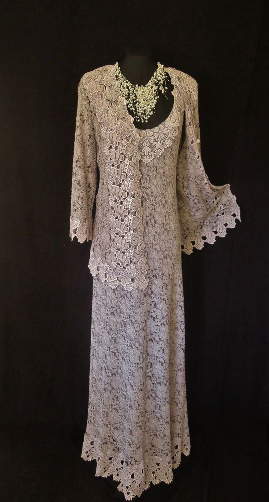 Ann balon wedding outfit size 14 16 lace dress and jacket for Dress jacket for wedding guest