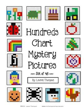 Hundreds Chart Mystery Pictures Bundle- These are fun printable ...