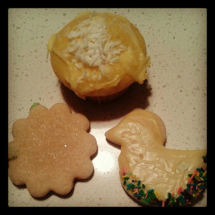 ... topped lemon cupcakes, lavender-sugar cookies, and iced sugar cookies