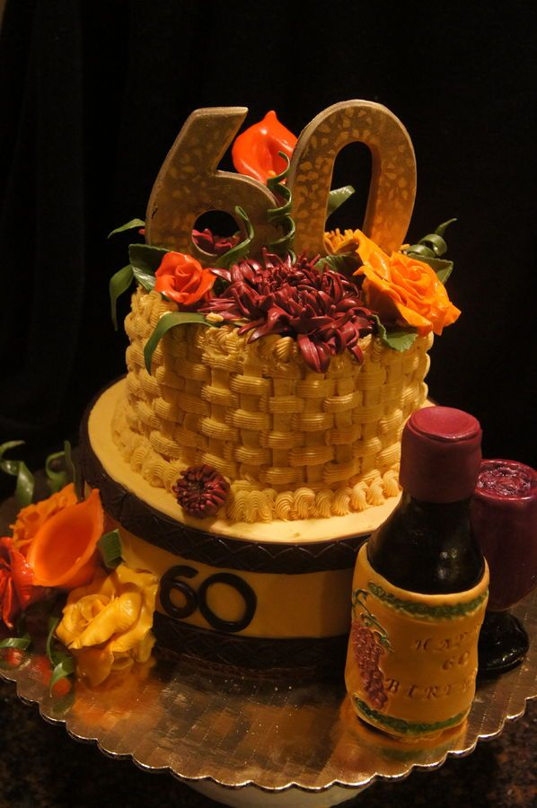 60th fall birthday themed cake cake inspiration pinterest