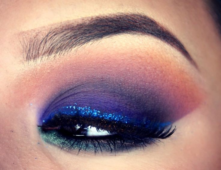 love this sunset inspired eye makeup