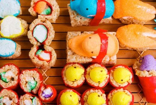 How to Make Peepshi = Peeps Sushi | Easter | Pinterest
