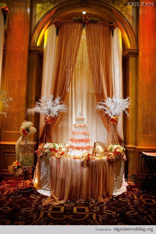 Nigerian wedding cake table decoration 3 dream wedding for Wedding cake table decorations