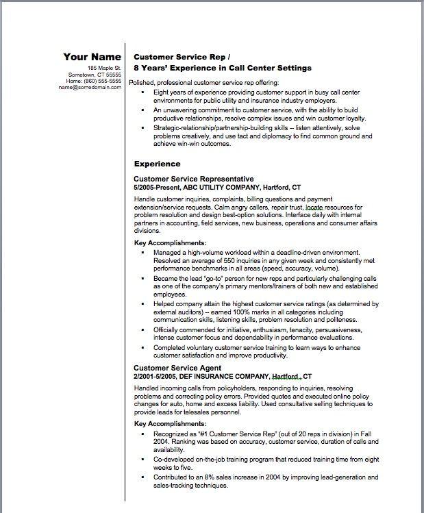 summary for resume examples customer service hgvi
