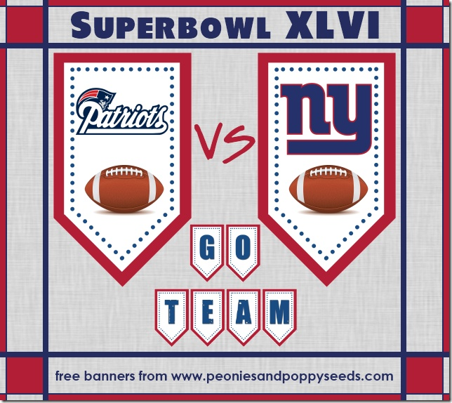 Superbowl Banner Printable | Patriots Graphics & Wallpaper | Pinterest