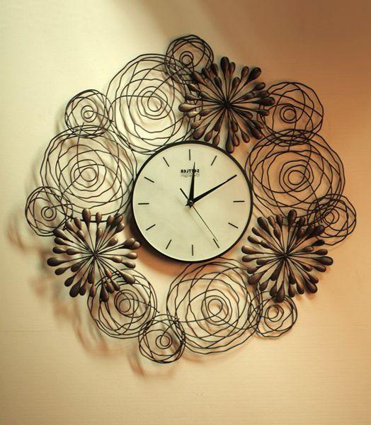 Оформление настенных часов своими руками фото