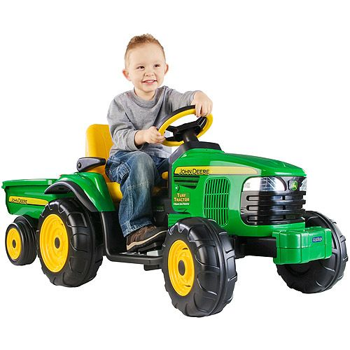 Peg Perego John Deere Turf Tractor With Trailor Ride On