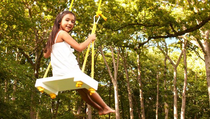 Rope swing catch a breeze with the gentle back and forth motion of