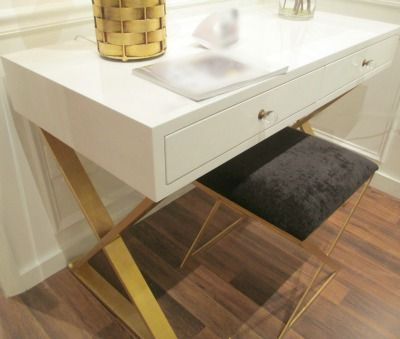 White And Gold White And Gold Desk