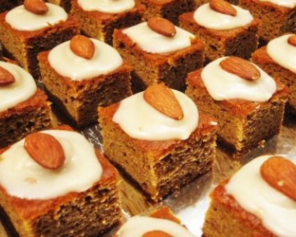 Paleo Pumpkin Gingerbread Cake with Maple-Vanilla Frosting | Recipe