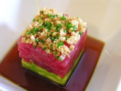 Ahi Tuna Tartare with Avocado, crispy shallots and soy sesame dressing ...