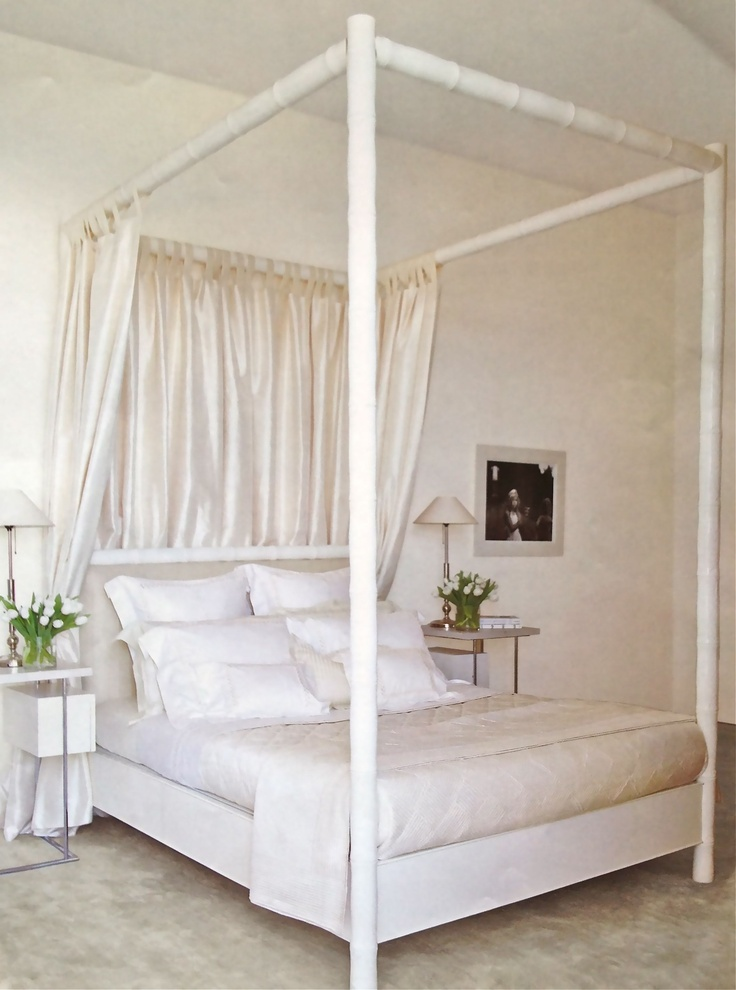 White four poster bed decor pinterest for White four post bed