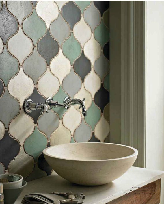 Brilliant A Girl Can Dream, Right? Fired Earth Bridgehampton Marble Tile $27 This Aspen Bathroom Delivers Maximum Impact With Bright Blue Square Mosaic Tiles Styled En Masse &quotNothing Says The 70s Are Back Like An Entire Bathroom Clad In