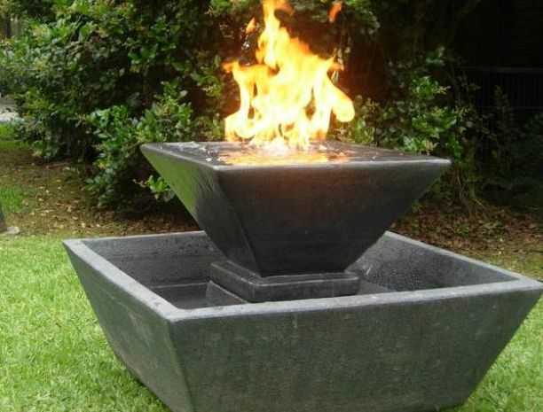 Pin by lori caldeira on backyard ideas for nicole pinterest for Fire pit water feature combo