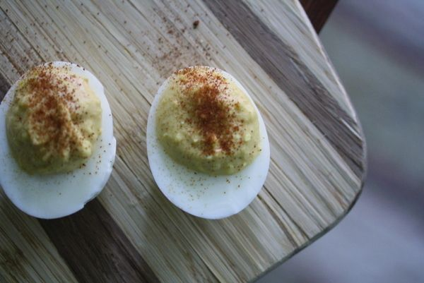 deviled eggs with Siracha and lime | Savory | Pinterest