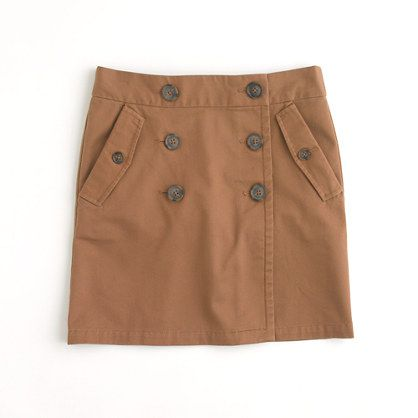 J. Crew Factory button-front mini skirt, in roasted nutmeg