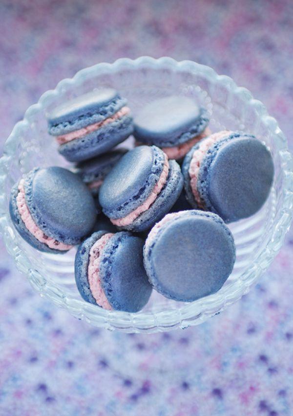 Blackberry Macarons Recipe | Macarones | Pinterest