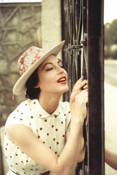 Ava Gardner in polka dots