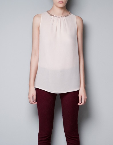 Blush Colored Silk Blouse 118