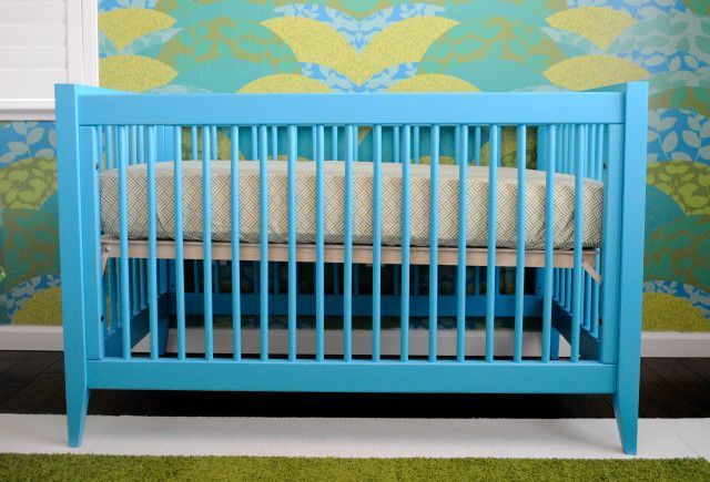 Devon Crib by @Newport Cottages in Bahama Blue