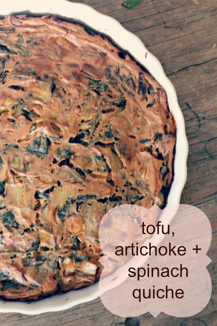 Tofu Quiche | Food for the AM | Pinterest