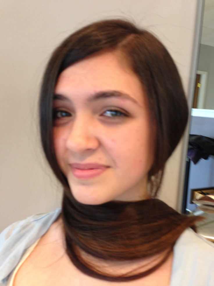 One length hair cuts/ long hair fine behnazazargam.com