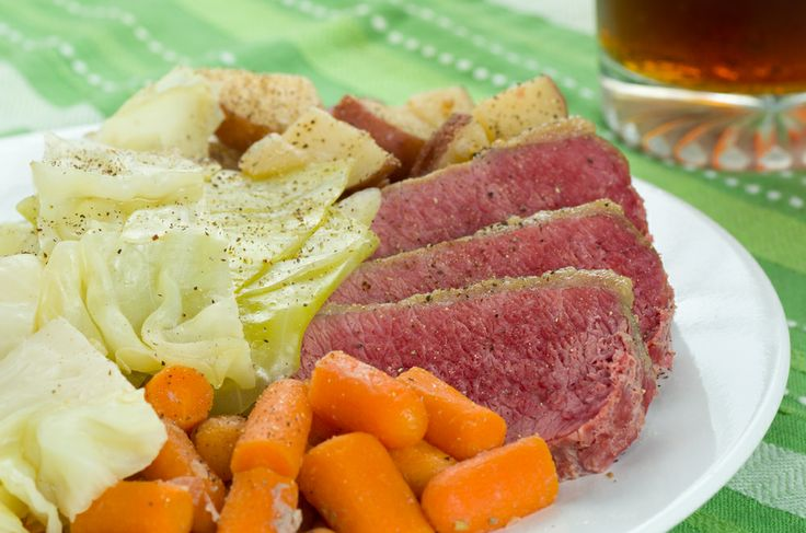 Corned Beef, Red Potatoes and Cabbage with Horseradish Cream - made ...