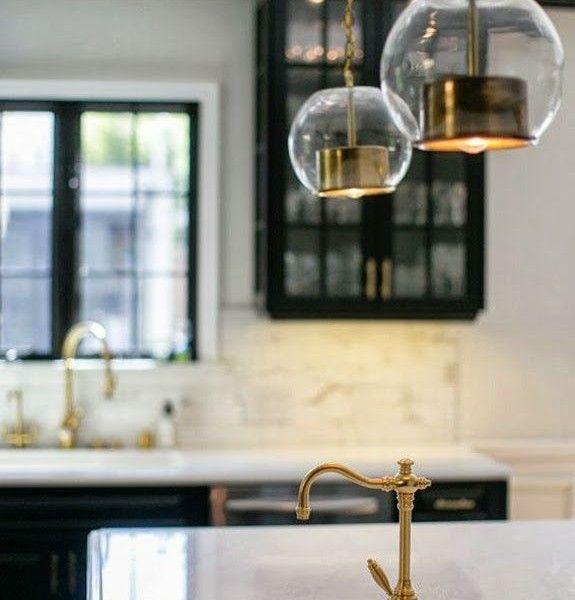 Antik Messing Anhänger-Wasserhahn küche  Interieur Design ...
