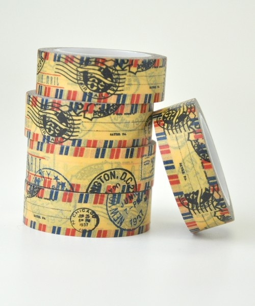 Airmail Stamp Washi Tape  {Two Peas in a Bucket}