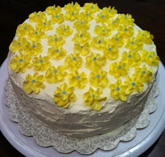 Lemon chiffon cake with lemon curd and whipped cream frosting