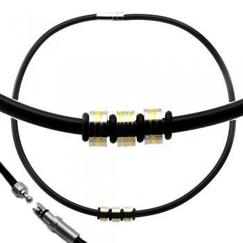 Check out this Black Rubber Barrel Charm Necklace in just 23.50$.