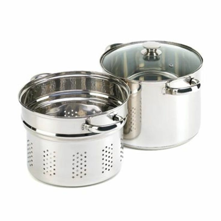 Pasta cooker pot stainless steel w strainer insert ss pan