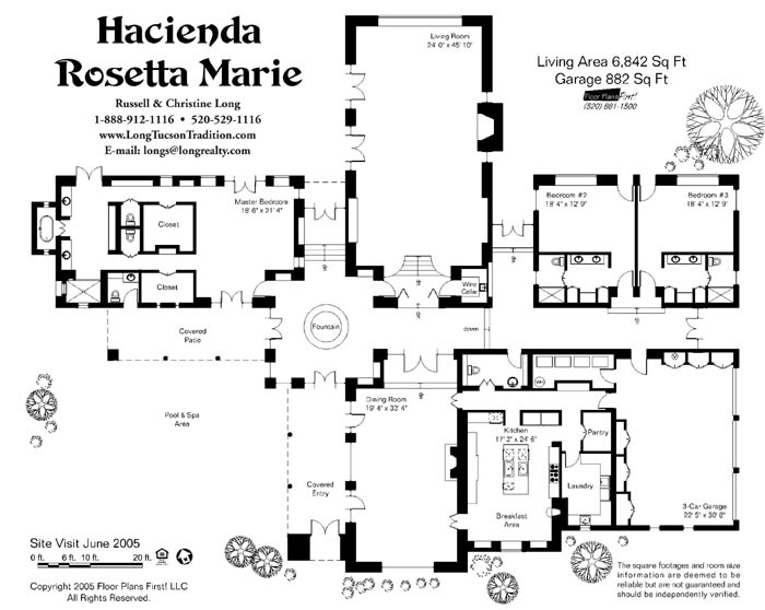 Floor plan house floor plans pinterest Hacienda floor plans with courtyard