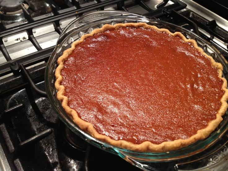 Caramel pumpkin pie.