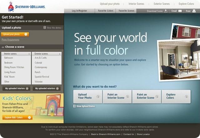 sherwin williams color visualizer paint colors pinterest