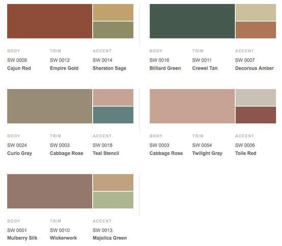 Historical Shades Of Interior Paint Colors From Sherwin Williams .