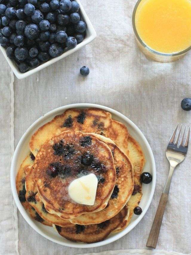 Buttermilk Blueberry Pancakes 2 | gluten free:) | Pinterest