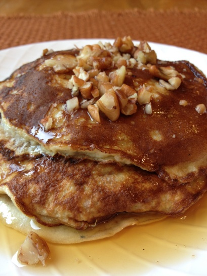 Banana Pecan Pancakes | recipes | Pinterest