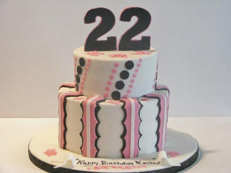 22nd Birthday cake My Cake Creations Pinterest