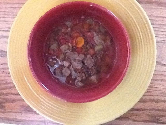 Chicago Foodie Sisters: Steak and lentil soup