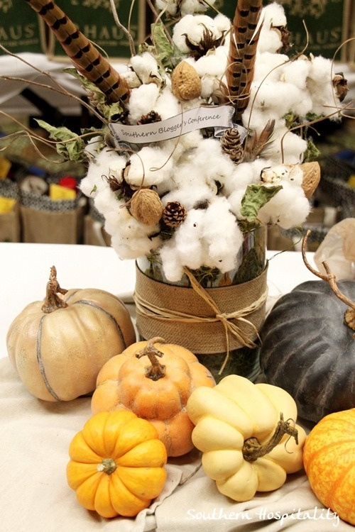 cotton and feathers centerpiece For the Home Pinterest