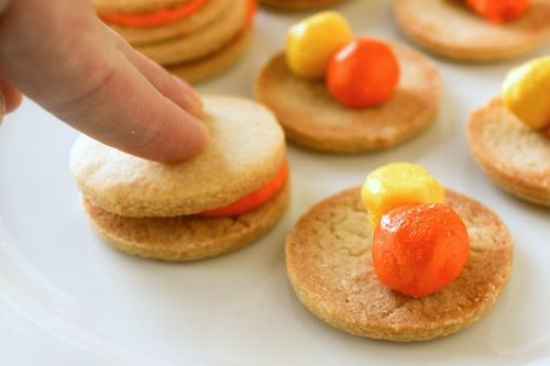 Homemade Candy Corn Oreos from @Casey | Good. Food. Stories.