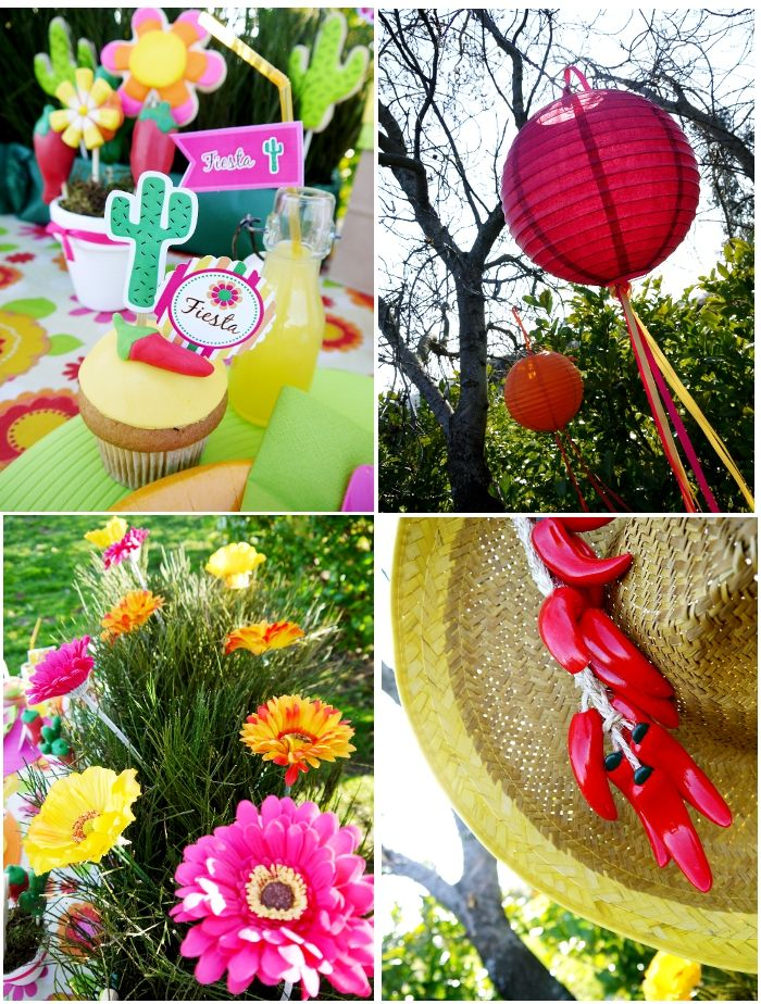 Colourful decorations for a cinco de mayo party fiesta mexicana