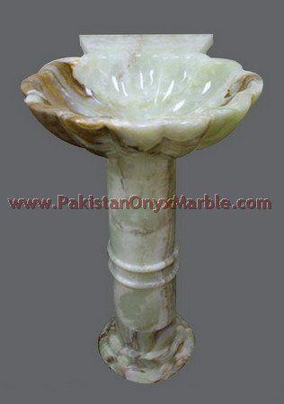 pedestal bathroom sink, onyx shell pedestal sink, stone pedestal sink ...