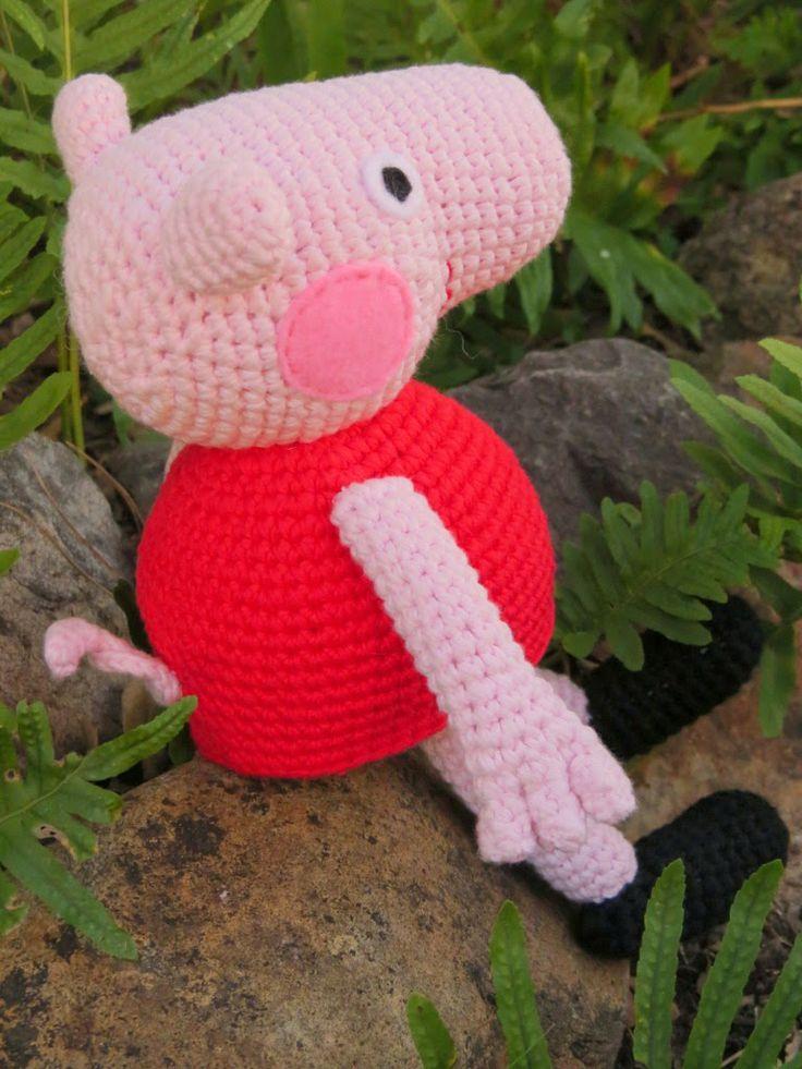 Pig Rabbit Amigurumi Patron : Peppa Pig de ganxet. Patro gratu?t // Peppa Pig de ...