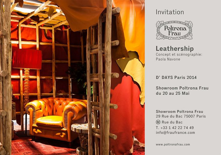 Poltrona frau invites you to designer 39 s days 2014 poltrona frau showroom - Poltrona frau rue du bac ...