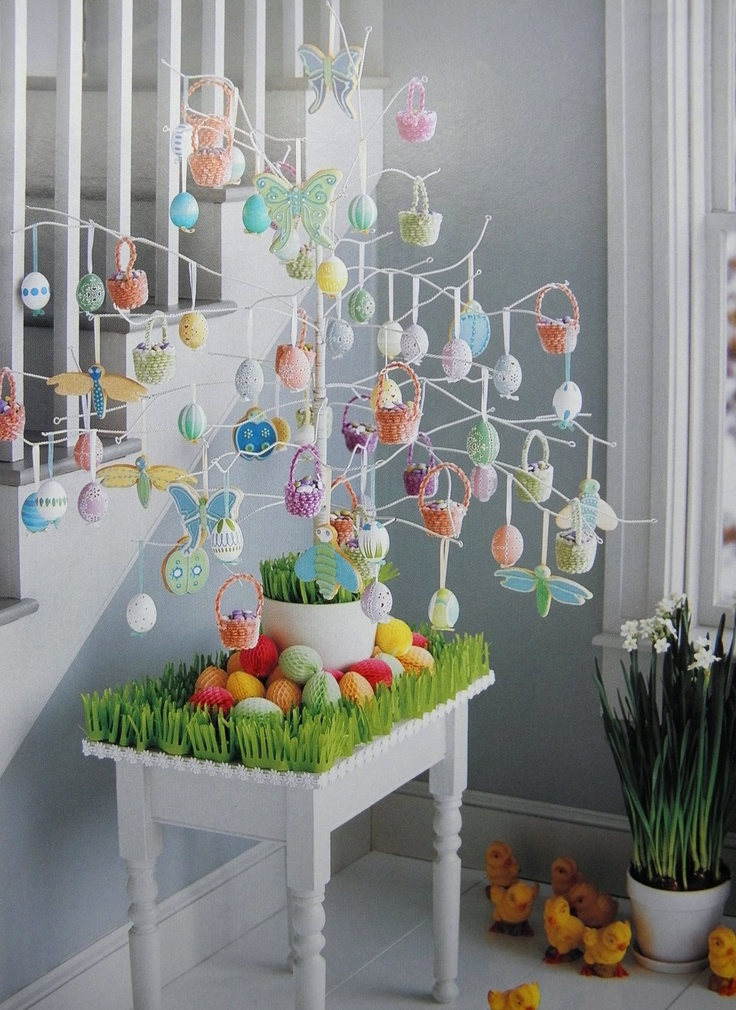 Easter egg tree easter pinterest Images for easter decorations